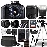 Canon EOS 2000D / Rebel T7 Digital SLR Camera Body w/Canon EF-S 18-55mm f/3.5-5.6 Lens Multi 3 Lens DSLR Kit with Complete Accessory Bundle + Tripod + 64GB + Flash + Case & More - International Model