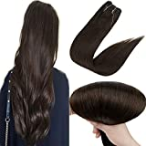 Easyouth 12inch Invisible Halo Extensions Human Hair Darkest Brown Mircale Wire Hair Extension Real Remy Hair 70G/Set
