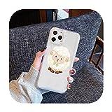 Coque de téléphone en forme de mouton pour iPhone Samsung A S 11 12 6 7 8 9 30 Pro X Max XR Plus...