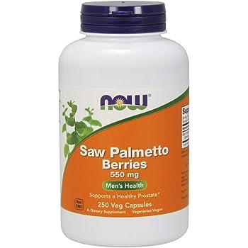 NOW Supplements, Saw Palmetto Berries (Serenoa repens) 550 mg, Men's Health*, 250 Veg Capsules