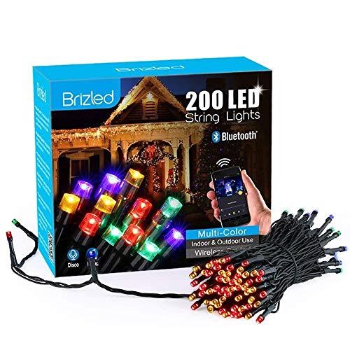Brizled Luci Albero di Natale 30M 200 LED, Smart Luci Natalizie da Esterno ed Interno controlla con APP, 16 Modo di lampeggiare, Funzione di Timer e Sensore di Voce, Luci Colorate Addobbi Natalizi