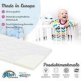 ALVI Babymatratze Air&Clean | 100% Baumwollbezug | Kindermatratze für Stubenwagen | optimale Durchlüftung | Matratze 4cm für Kinderwagen, Stubenkorb, Wiege, Beistellbett, Größe:85 x 40 cm - 2
