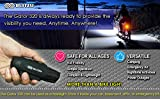 BLITZU Gator 320 USB Rechargeable Bike Light Set Super Bright Front Headlight and Back LED Rear...