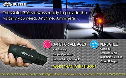 BLITZU Gator 320 USB Rechargeable Bike Light