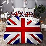ALLMILL Funda Nórdica De Microfibra,Bandera de la Unión Jack UK,Juego De Ropa De Cama De 3 Piezas (1 Funda De Edredón 200 x 200cm + 2 Fundas De Almohada 50 * 80cm)