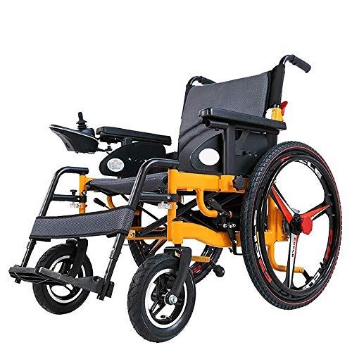 Portátiles ligeros Powered silla de ruedas inteligente Silla de ruedas eléctrica plegable for ancianos discapacitados Salud 24 pulgadas de la rueda grande de carga de 100 kg sillas de ruedas electrica