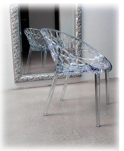 NEUERRAUM Ghost Chair Armlehnstuhl Plexiglas. Schickes Design, hochwertige Verarbeitung, Komfortables Sitzen, Für Außen und Innen geeignet. Abbildung in Transparent klar.