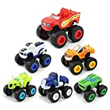 Blaze and The Monster Machines Toys,Monster Truck Toy Vehicle Toy Sets Games Car Toy 6Pack Monster Machines Truck Toys Gifts for Kids Boys