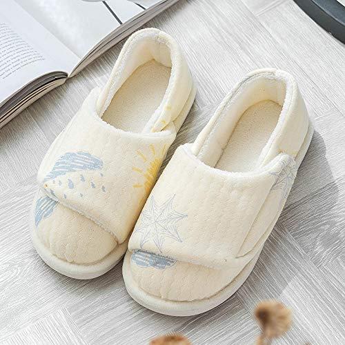 Herenpantoffels met brede pasvorm,Wintertas met opsluitschoenen, schattige zwangerschapspantoffels-40_Geel weer,Plantar Fasciitis sneakers Air Shoe