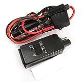 Sunydog Cargador USB para Motocicleta de 5V 3.1A a Adaptador USB con Pantalla de Voltaje y Corriente teléfono, Tableta, Cargador GPS