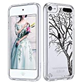 ULAK iPod Touch 7 Case, iPod Touch 6 Case, Slim Anti-Scratch Clear Case with Shockproof Bumper, Hybrid Protective Cases for Apple iPod Touch 7th/6th/5th Generation, DrawnTree
