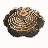 Puerta incienso Lotus quemador incienso Vintage Buda incensario bronce soporte para conos incienso...