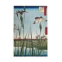 1000ピース ジグソーパズル 歌川広重 堀切の花菖蒲 ジグソーパズル 木製パズル Puzzles 50x75cm(6歳以上が適しています)