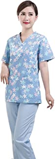 KESYOO Lab Coat Nurse Doctor Work Clothes Protective Overall Working Uniforms Scrubs For Pharmacy Beautician Nurse(S)