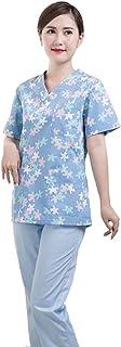 KESYOO مختبر معطف ممرضة الطبيب العمل الملابس واقية العامة الملابس التقويرية ل الصيدلية ممرضة (S)