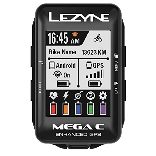 LEZYNE Mega C Loaded GPS Bike Computer Black, One Size