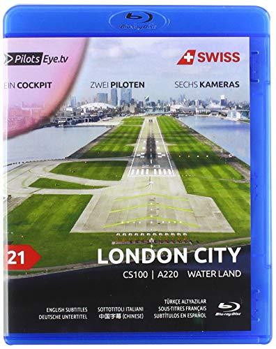 PilotsEYE.tv I LONDON CITY I Cockpit Mitflug CS100/A220 I SWISS I 'Water Land' I Bonus: 747SP Pratt testing facility [Blu-ray]
