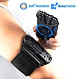 """Runner Arm Case, iPhone 11/iPhone X/Samsung/4-6.5"""" Smartphones Running Armband, Sports Arm Band 360°Rotatable"""