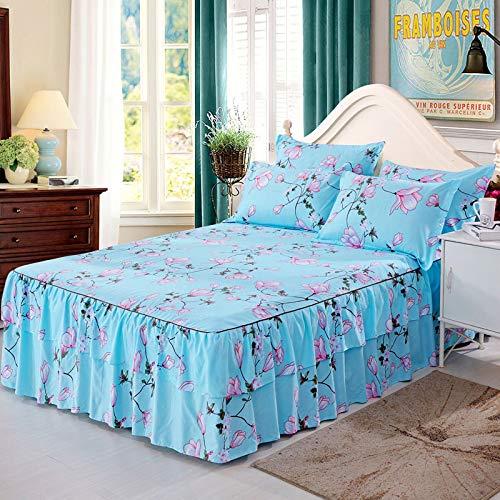 Hllhpc Bed cover aloë katoen enkel stuk dubbel bed rok bed set prinses bed cover bed cover