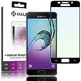 NALIA Cristal Templado Compatible con Samsung Galaxy A5 2016, Vidrio Blindado Película Protectora Display Cobertura, 9H Dureza Protector de Pantalla Tempered-Glass, Color:Negro