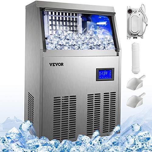 VEVOR 50KG par 24H Machine à Glaçons Professionnelle 4X9 Cubes Machine à Glaçons Automatique Commercial Ice Maker…