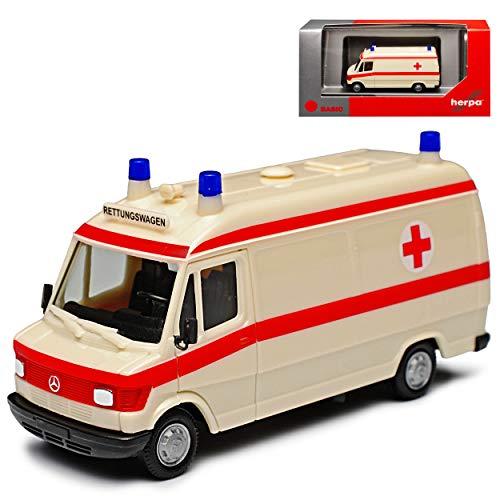 Mercedes-Benz T1 207D Transporter Krankenwagen Rettungswagen 1977-1995 H0 1/87 Herpa Modell Auto mit individiuellem Wunschkennzeichen