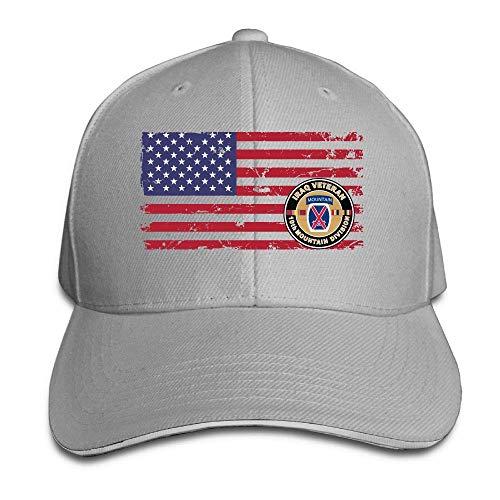 Tttyy Veterano de Iraq Décima montaña Bandera de EE. UU....