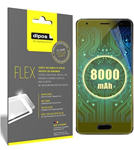 dipos I 3X Schutzfolie 100prozent kompatibel mit Oukitel K8000 Folie (Vollständige Bildschirmabdeckung) Bildschirmschutzfolie