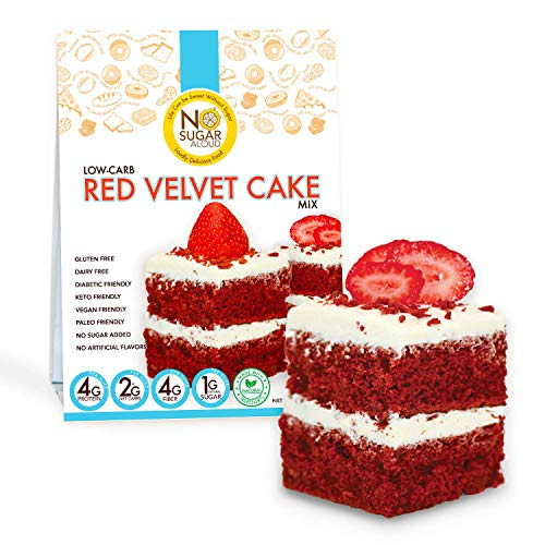 No Sugar Aloud Low Carb Red Velvet Cake Mix (No sugar added, gluten free, Vegan, Paleo, Keto)