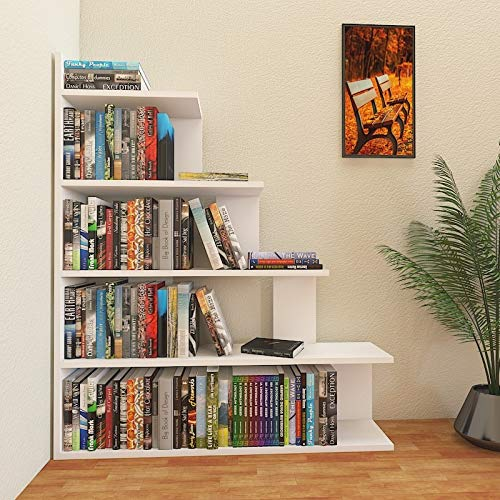 Decorotika Echo - Estantería de 5 niveles (120 cm), diseño de escalera, color blanco: Amazon.es: Hogar