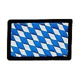 Café Viereck ® B&esland Patch Bayern Flagge Gestickt mit Klett - 6 cm x 4 cm