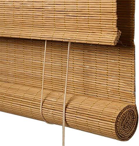 RENQIAN bamboe rolgordijnen zonwering scheidingswand decoratie retro rolgordijn - outdoor binnen (kleur: A grootte: 70X160Cm)