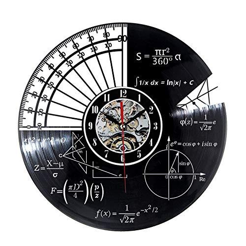 Magracy orologio da parete in vinile per matematica e simboli matematica lavagna freak orologio da parete in vinile per scuola decorazione