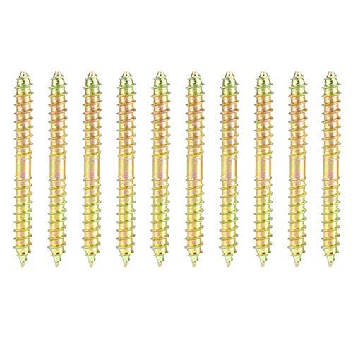 50 Stücke 6 * 60mm Schraube Eisen Doppelende Schraube Selbstschneidende Schrauben Gewinde Zimmerei Möbel Stecker Stangen Aufhängung Doppelseitige Spike für Vorstand Repariert Möbelbefestigung