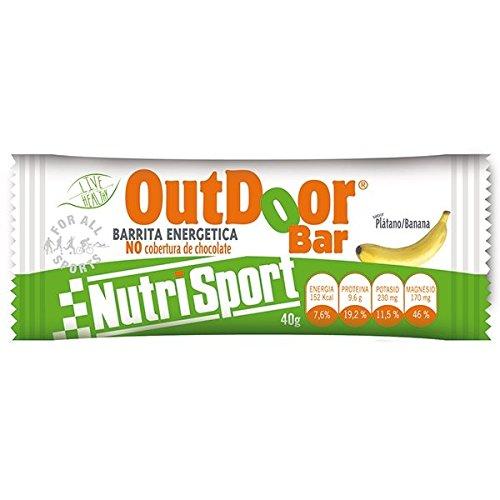 Nutrisport Outdoor Barrita Energética 20 x 40g Plátano