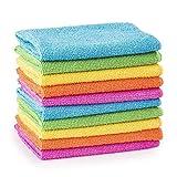 Guilty Gadgets Lot de 10 chiffons de nettoyage en microfibre pour voiture et salle de bain 30 cm x...