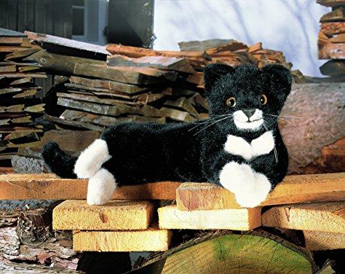 Preisvergleich Produktbild Kösener 5470 - Katze Fini schwarz / weiß liegend 41 cm
