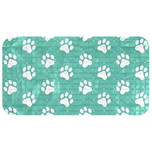 Lilibeely Bathtub Non-Slip Mat Baby Bath Tub Mat Anti-Slip with Suction Cups Dog Paw Bathroom Tubs Massage Shower Mat