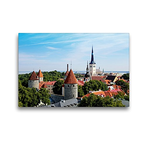 Premium Textil-Leinwand 45 x 30 cm Quer-Format Die Altstadt von Tallinn | Wandbild, HD-Bild auf Keilrahmen, Fertigbild auf hochwertigem Vlies, Leinwanddruck von Klaus Eppele
