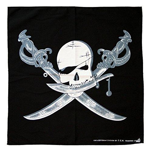 Pirata Calavera Sable Pañuelo Bandana Pañuelo