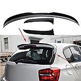 TGFOF Alerón de techo trasero para BMW Serie 1 F20 F21 120i 125i 118i M135i 116i Hatchback 2 puertas 2012-2019 Alerón lateral de ventana trasera con borde ABS brillante negro (3)