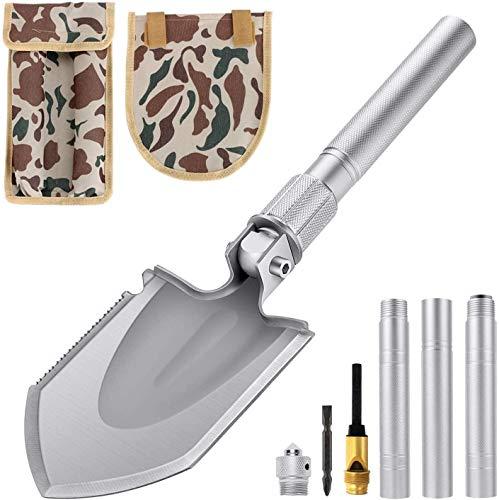 Klappspaten Multifunktional-Klappschaufel rostfreier Stahl, Länge: 43-70 cm Abnehmbar Schaufel für Überleben/Garten/Camping