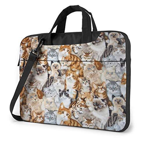 Many Cats Laptop Sleeve Case Computer Tote Bag Shoulder Messenger Briefcase for Business Travel