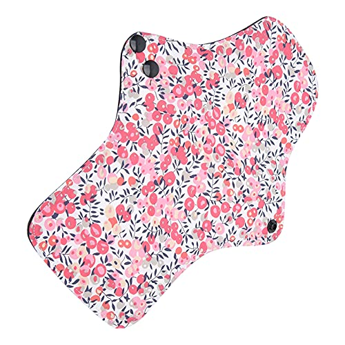 Almohadillas menstruales para mujer, almohadillas menstruales impermeables reutilizables, almohadillas sanitarias de algodón de 5 piezas lavables a prueba de fugas(M)