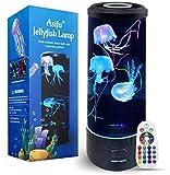 Fantasy Quallen Lampe 14 Zoll Jellyfish Lamp Aquarium LED Tank Mood Lampe Multi Color Nachtlicht Desktop Runde Stimmungslampe Dekoration Spielzeug für Weihnachts-mit Upgrade-Fernbedienung
