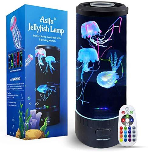 Fantasy Quallen Lampe 14 Zoll, LED Jellyfish Lamp, Aquarium Tank Mood Lampe, Multi Color Nachtlicht, Desktop Runde Stimmungslampe, Dekoration Spielzeug für Weihnachts-mit Upgrade-Fernbedienung