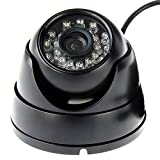 ELP 1080Pウェブカメラ 200万画素赤外線ナイトビジョン 防犯カメラ 監視カメラHDのUSBドームカメラ セキュリティおよび監視家庭 事務所設置 【防水 暗視 高解像度】 (ブラック)
