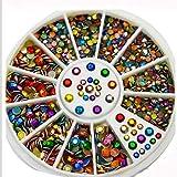 Dynamovolition Manicure Turntable Colorido Mezcla de Colores Copo de Nieve Regalo Joyería de uñas Herramientas de uñas Accesorios de decoración