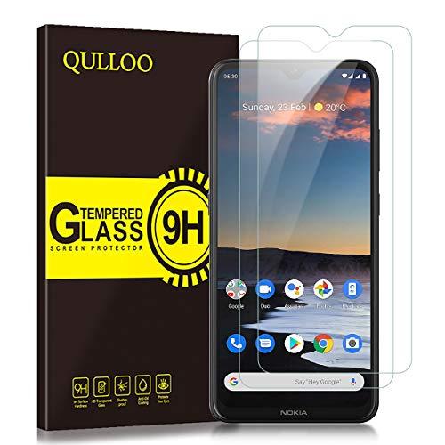 QULLOO Panzerglas für Nokia 5.3, 9H Hartglas Schutzfolie HD Displayschutzfolie Anti-Kratzen Panzerglasfolie Handy Glas Folie für Nokia 5.3