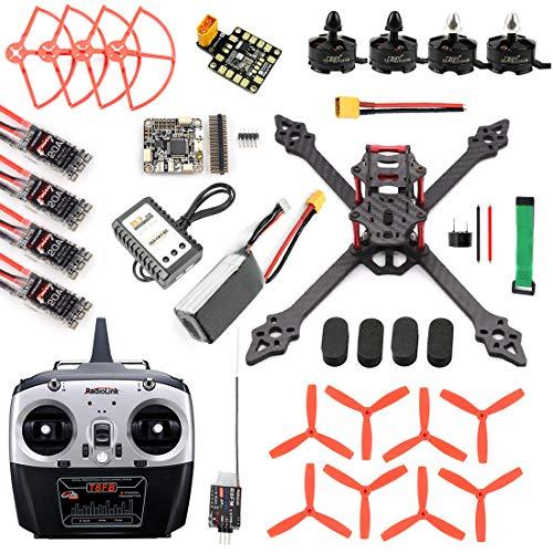 QWinOut DIY RC Racer Drone XSR220 220mm Frame 2.4G 8CH Quadcopter Betaflight F4 PRO V2 V3 Turbo S1 Camera 5.8G VTX FPV Monitor Display (F4 V2 Combo 9)